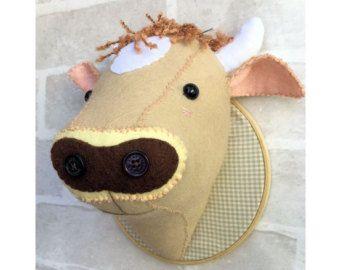 Faux Taxidermy Felt Unicorn Head Pattern Pdf Instant