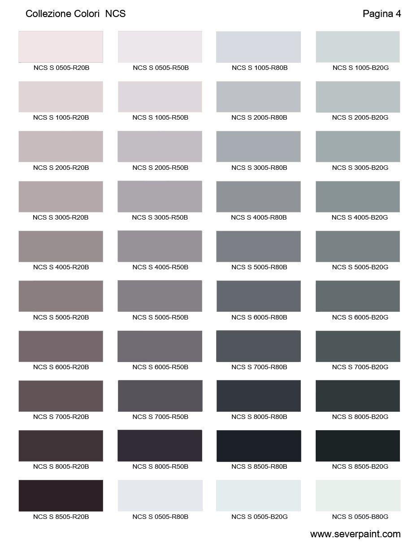 Tabella Colori Per Pareti.Cartella Colori Ncs 1950 Severpaint Colori E Vernici