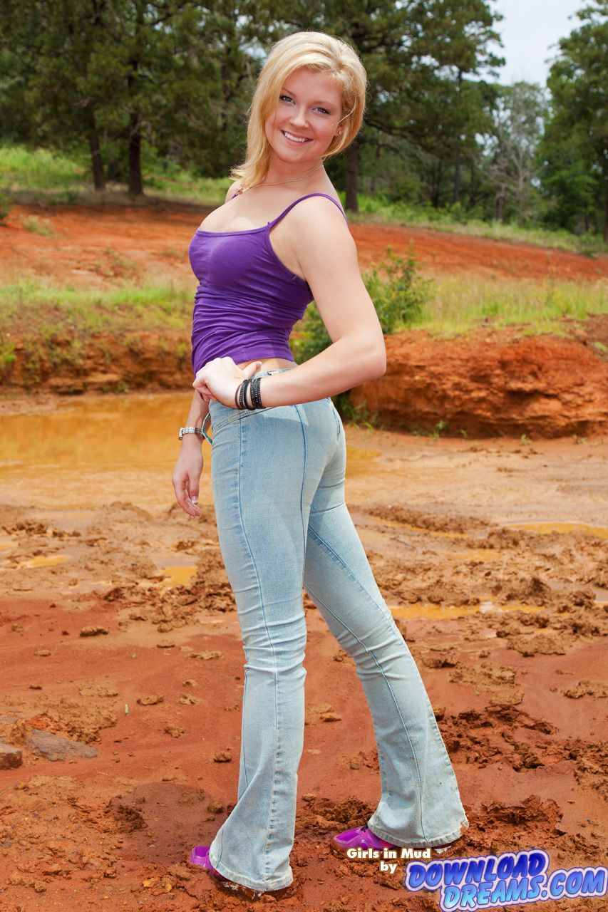 Girls in mud   Miss Sixty Jeans Flare Nixie, purple top ...