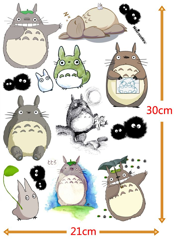 Cheap sticker accessories buy quality stickers dog directly from china sticker gel suppliers totoro cute sticker content 6 pieces lot pattern