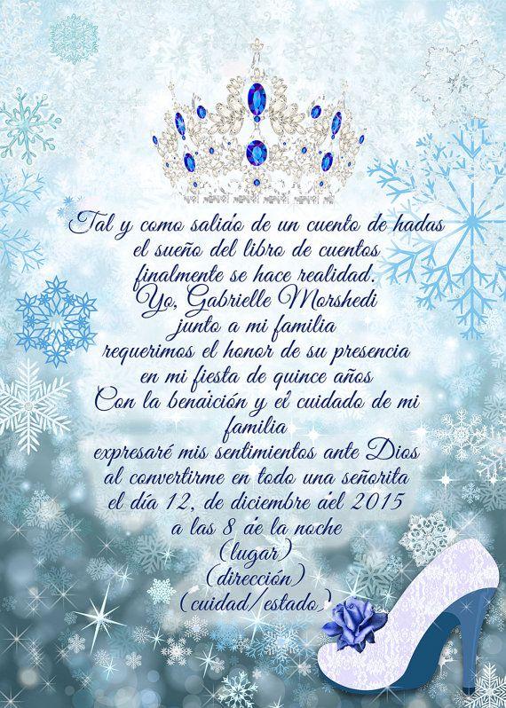 Invitación De Quinceañera Quinceañera De Invierno Princesa