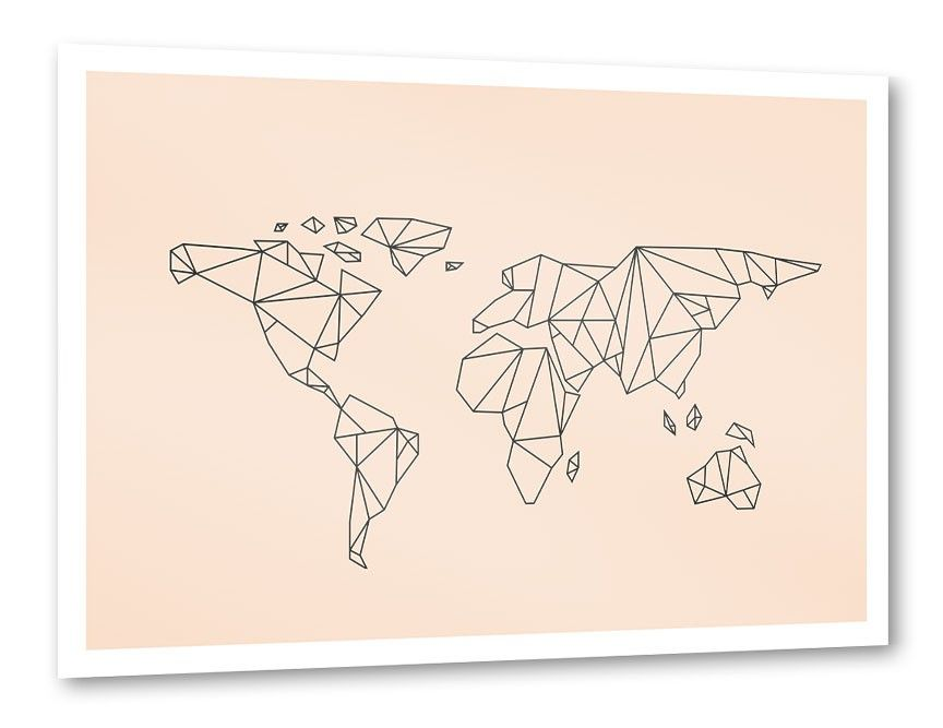 Origami World Poster