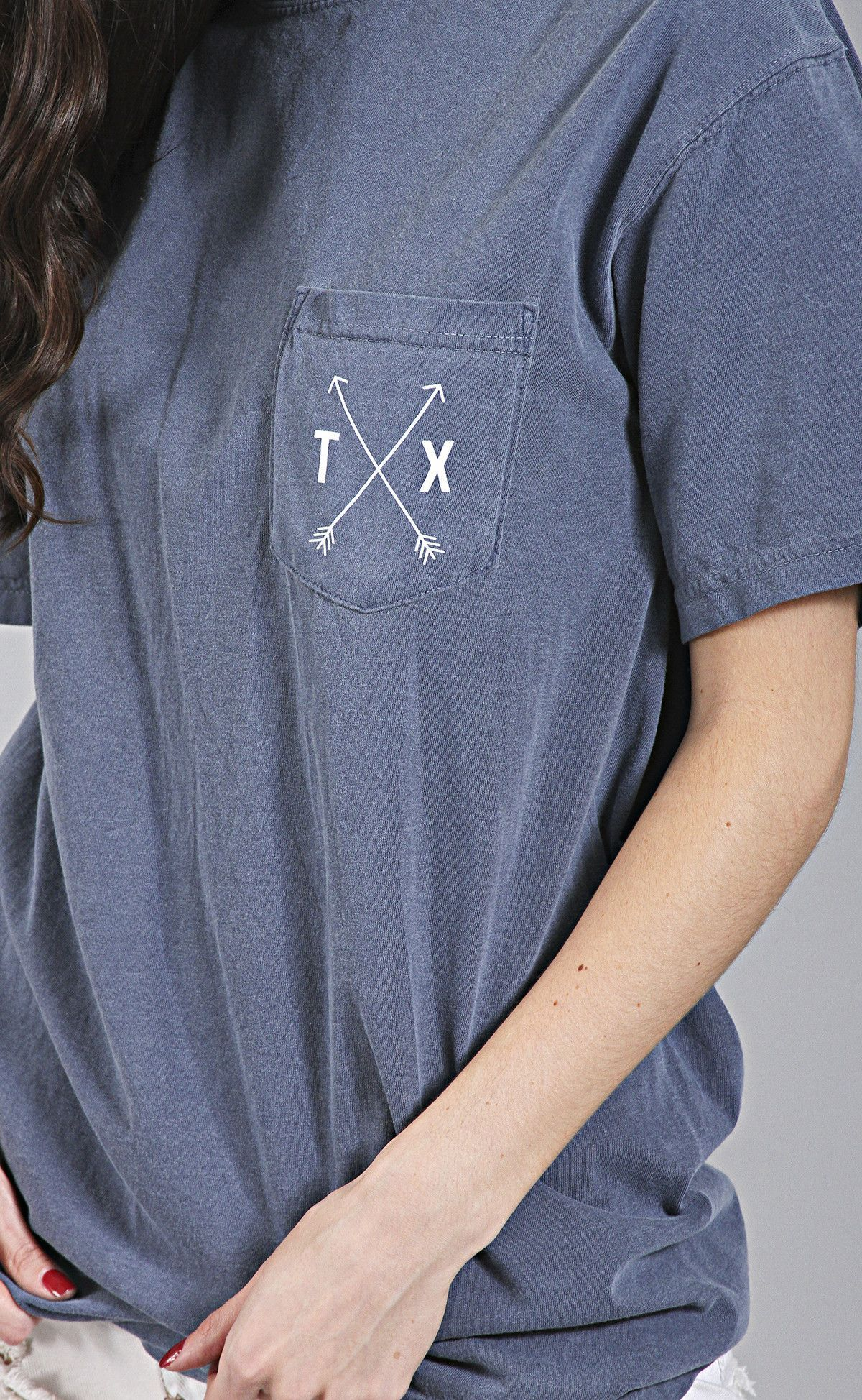 8a9bc5ba charlie southern: state arrow comfort colors tee - texas [navy ...