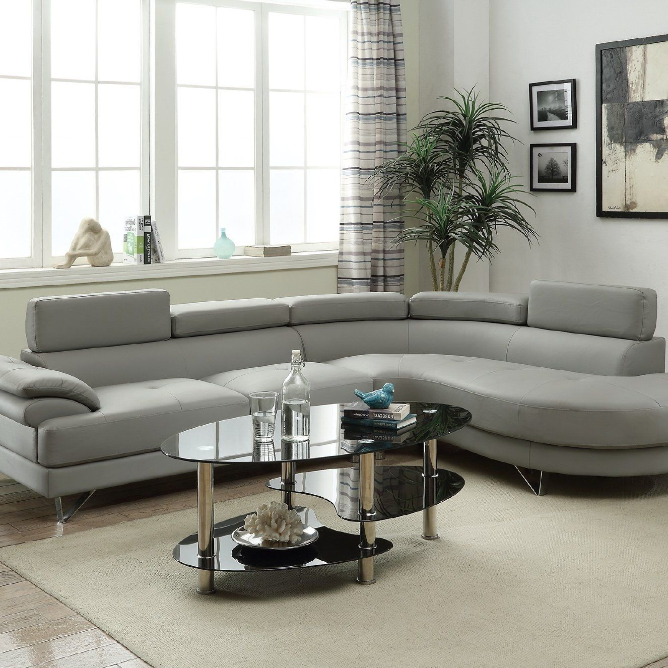 Normandy Sectional | Sectional sofa couch, Grey leather