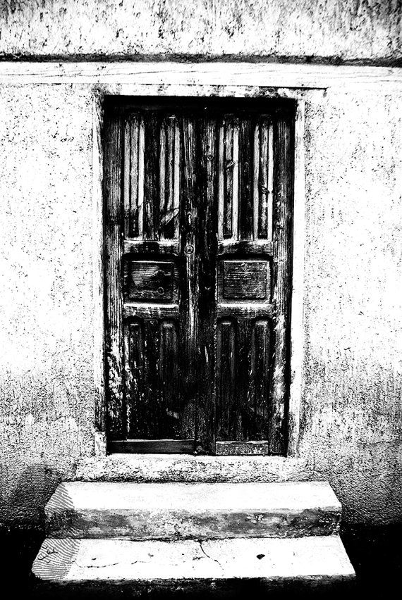 Black white photography door digital file by mitierraestutierra