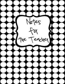 Notes for the Teacher (Binder Cover & Spine Label