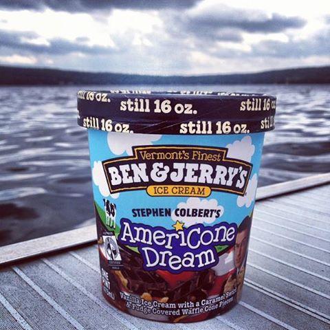 Ben And Jerry S Americone Dream Flavor Featuring Vanilla Ice Cream