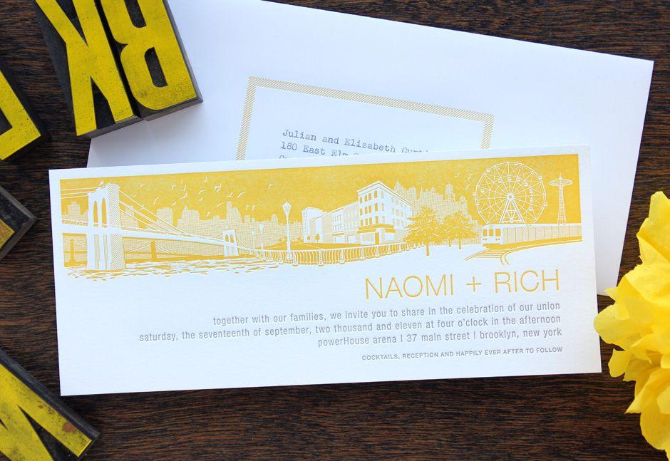 Letterpress Wedding Invitation SAMPLE By Echoletterpress On Etsy Sonoma Landscape