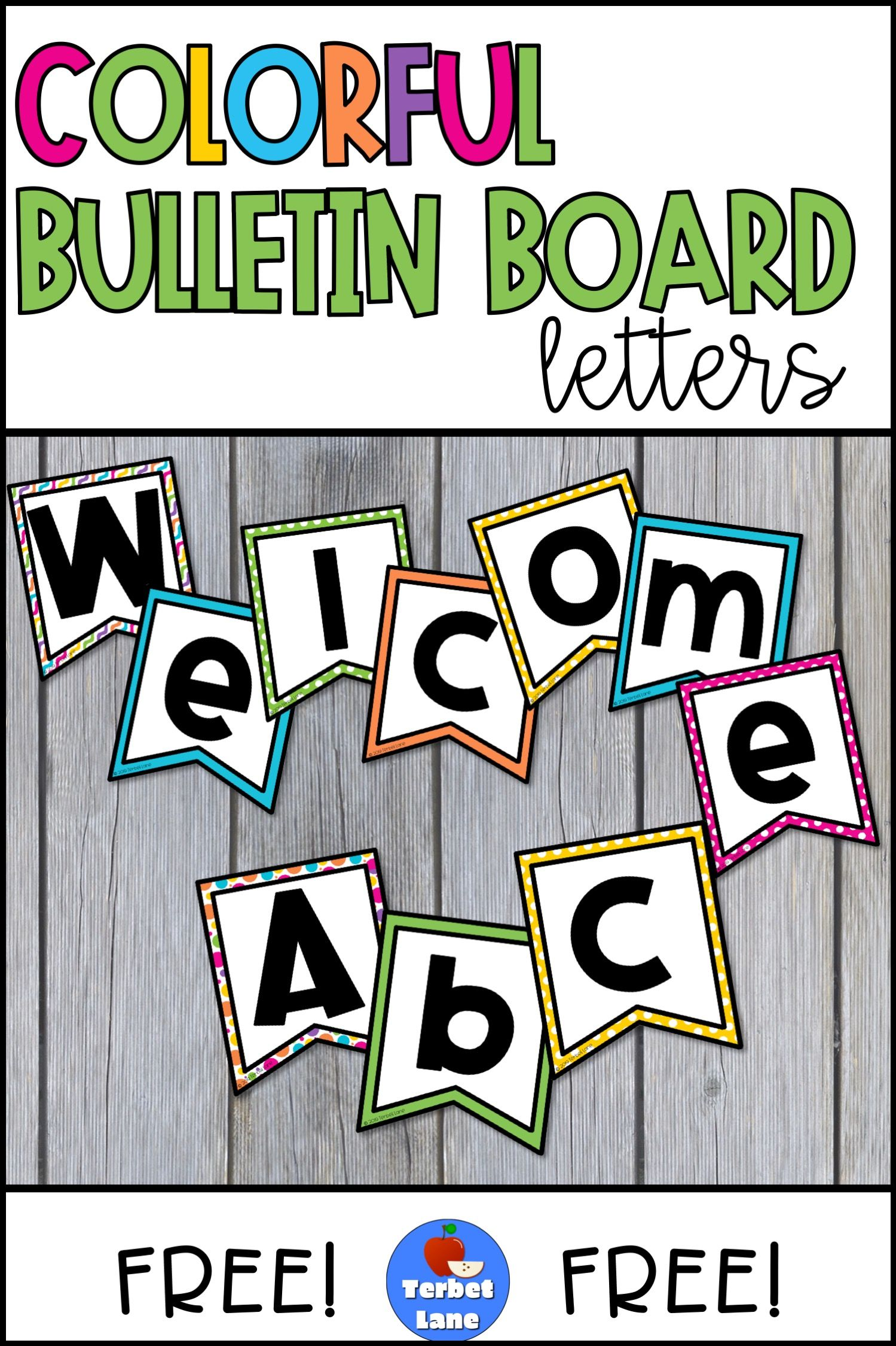 Free Printable Bulletin Board Letters : printable, bulletin, board, letters, Bulletin, Board, Letters, Printable, Letters,, Classroom, Boards,, Borders