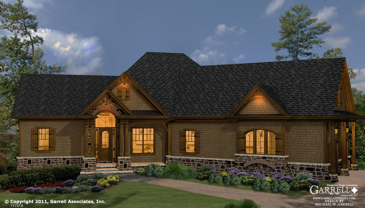 Westbrooks ii cottage house plan  front elevation craftsman mountain style plans also