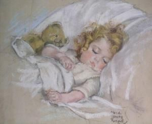 Sleeping Child..Maud Tousey Fangel
