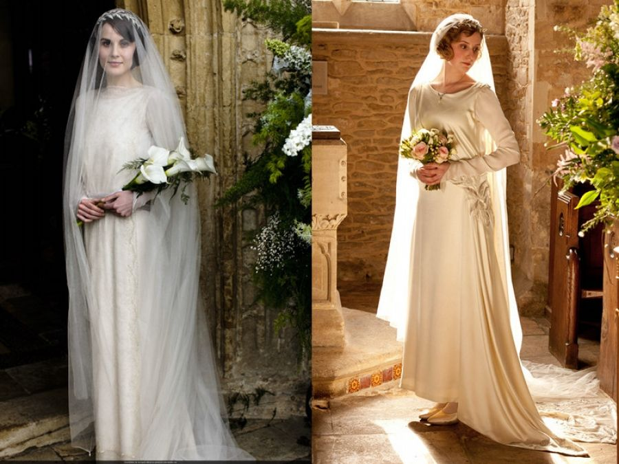 The Crawley Brides. I kinda liked Edith's dress better!
