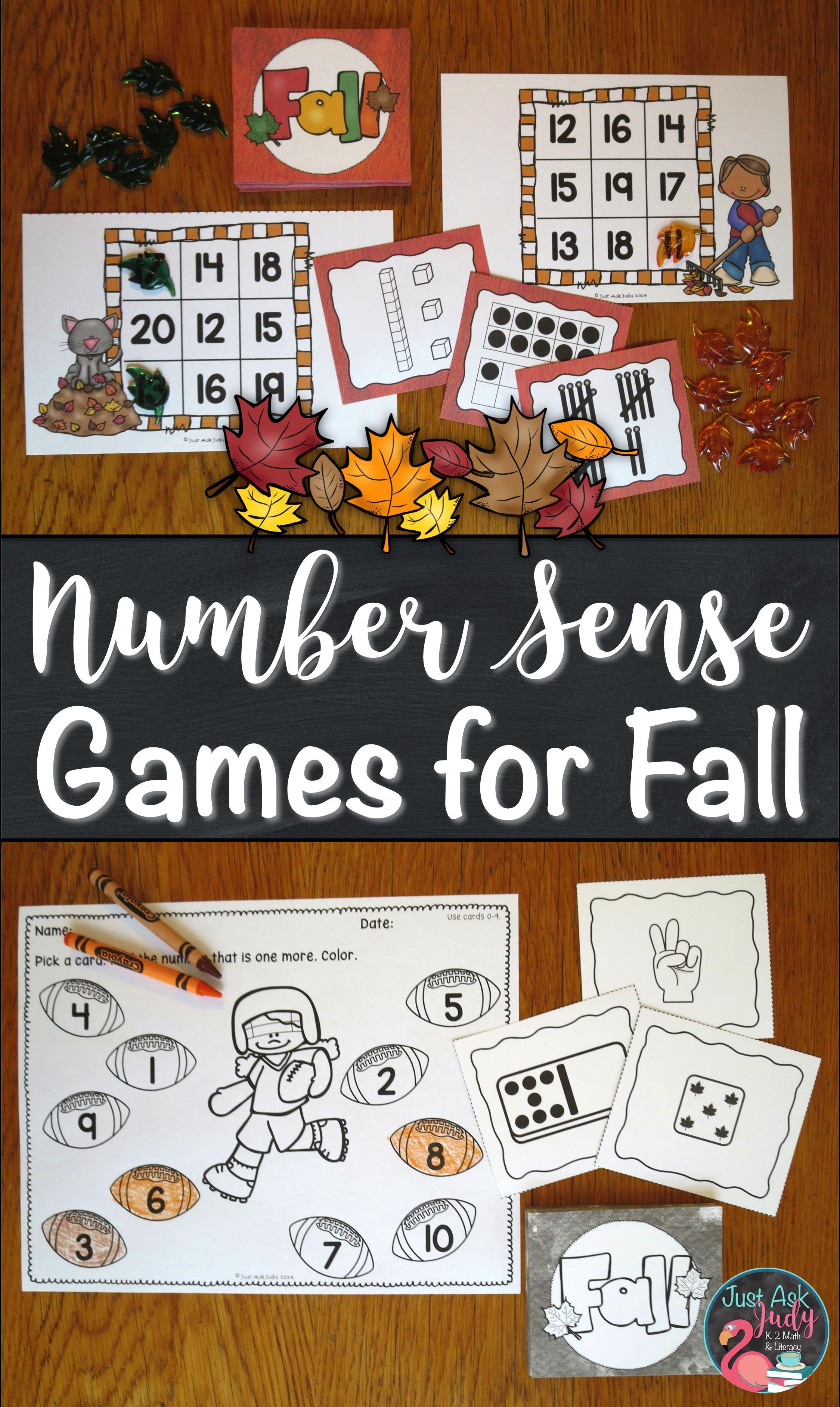 Number Sense Games Fall 0 5 0 10 11 20