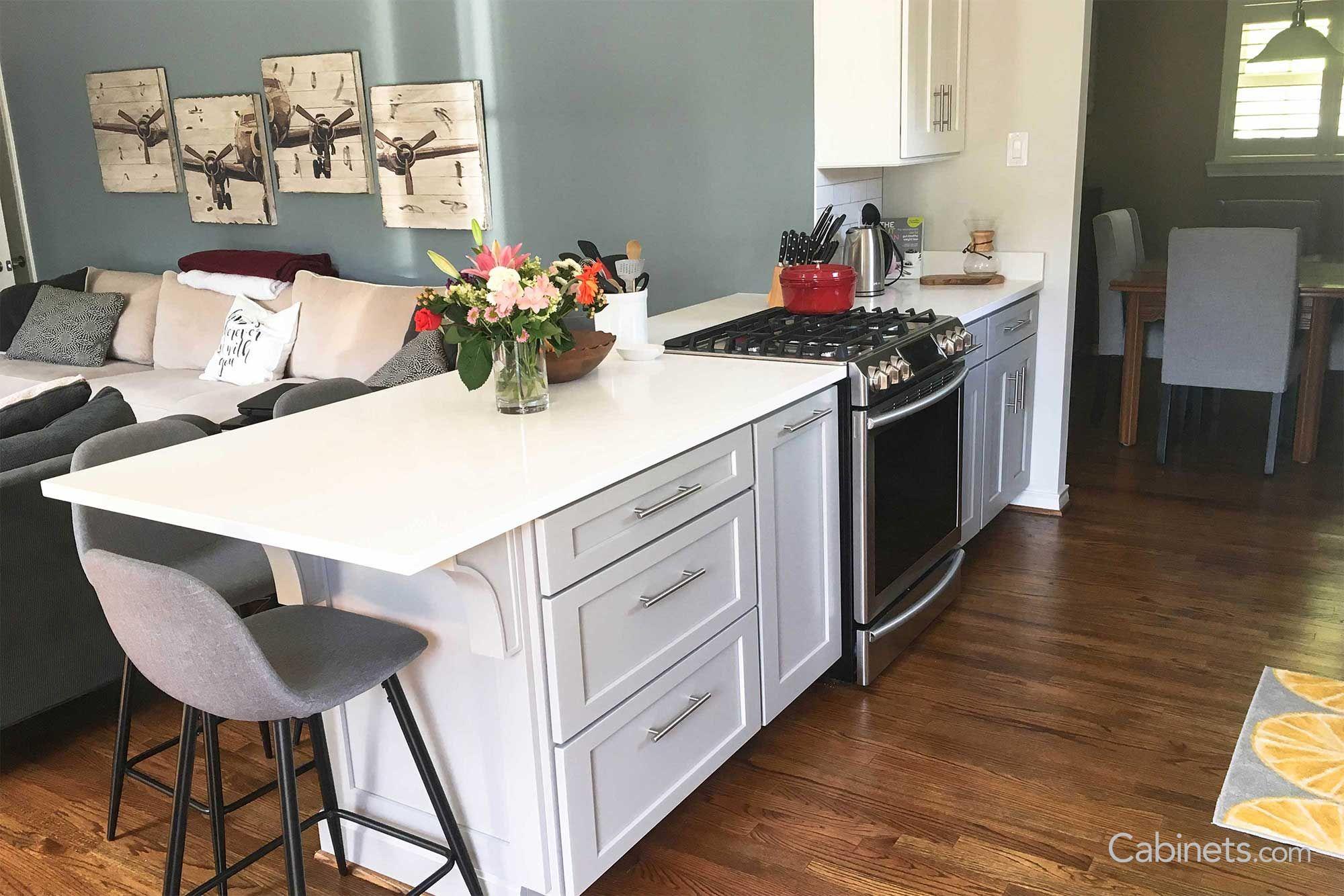 Best Shaker Ii Maple Willow Gray Grey Kitchen Cabinets 400 x 300