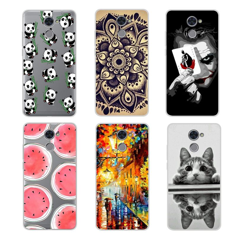 best service 25238 2cafa Cool Pattern Cover For Huawei Y7 Prime Case 5.5