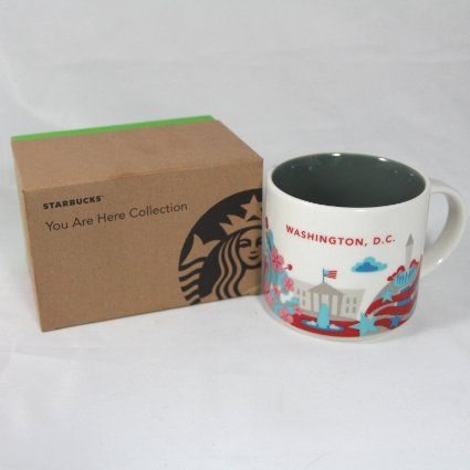 Coffee Mug 14 Ounce With Gift Box A Great Addition To Your Starbucks City Collection From The Nation S Capital Microwave And Dishwasher Safe