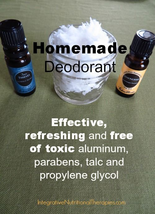 Homemade Deodorant »
