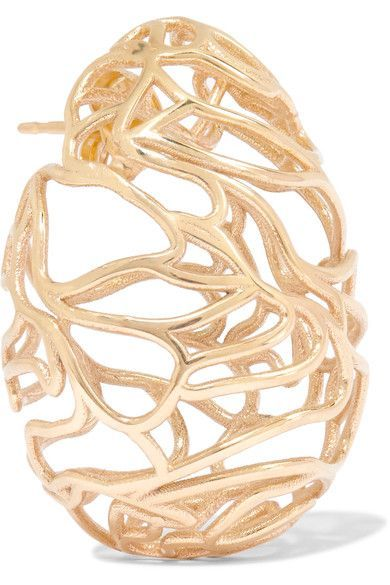 Scribble 9-karat Gold Earring - one size Sarah & Sebastian YEbaN8Qa