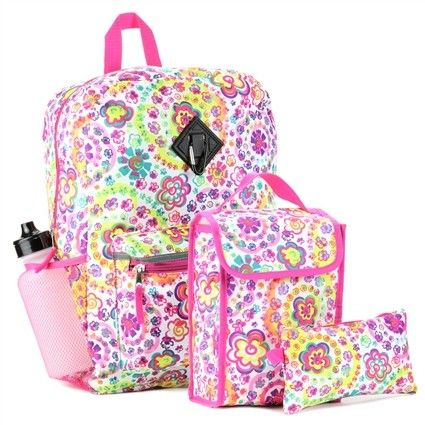 Set Includes 16 Backpack Insulated Lunch Bag Pencil Case