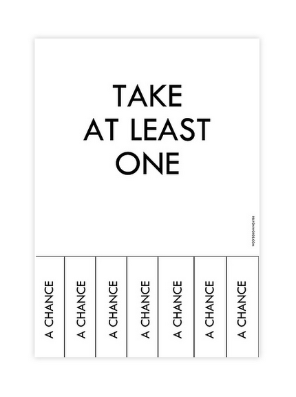 Take at least one...
