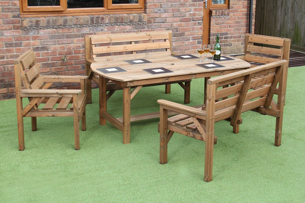Set Comprises Of 1x 6ft Table 2 X Benches And 2x Chairs Discover High Quality Garden F Wooden Garden Furniture Cheap Garden Furniture Garden Patio Furniture