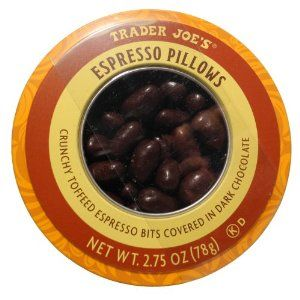 Trader Joe's Espresso Pillows Crunchy Toffeed Espresso Bits Covered in Dark Chocolate