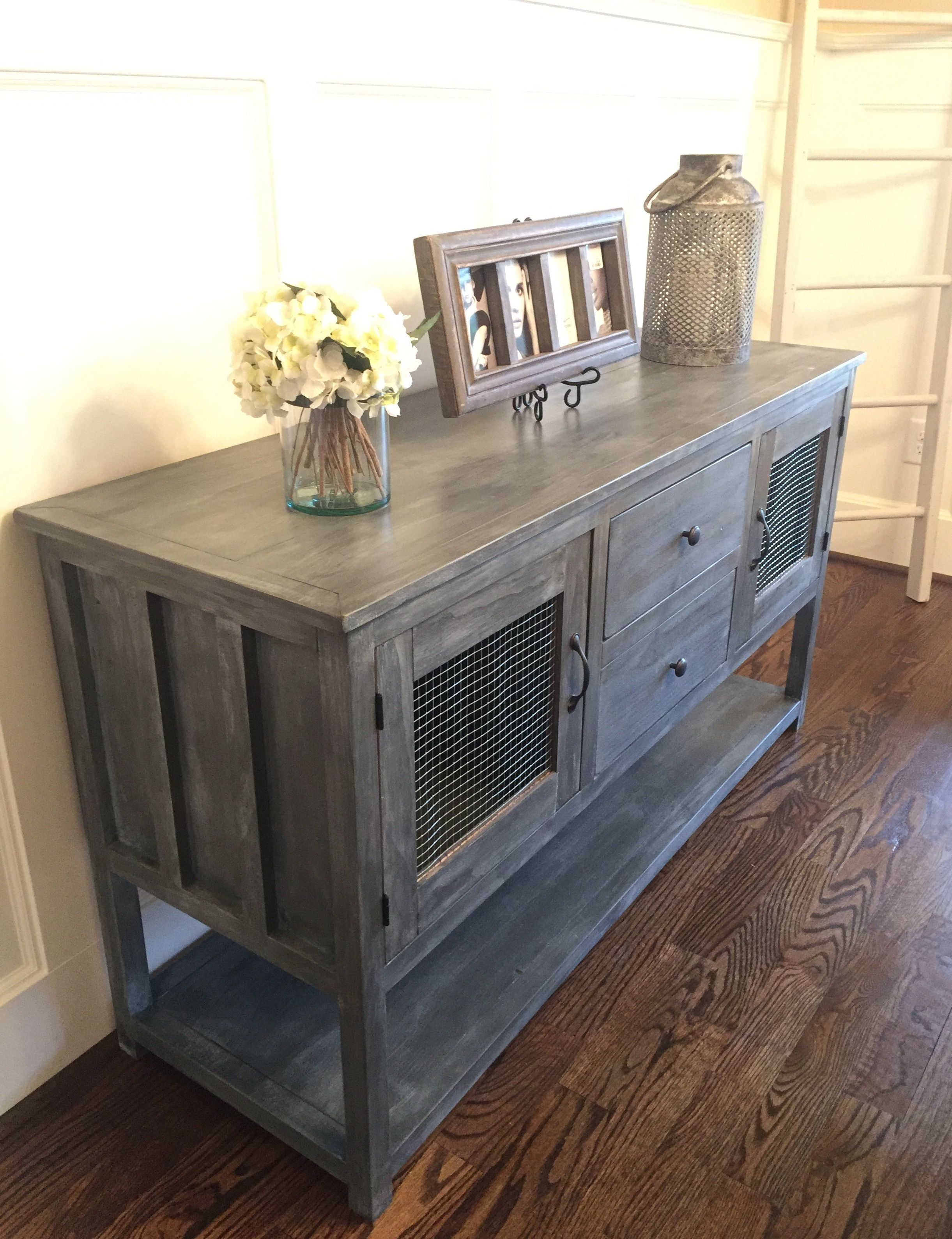 Ana White Farmhouse buffet from altered cabin dresser