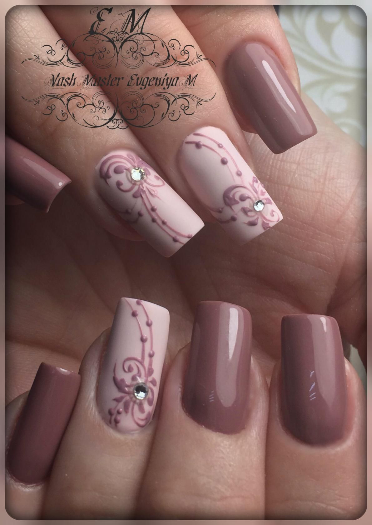 Mauve nails | Nail Art | Pinterest | Diseños de uñas, Decoración de ...