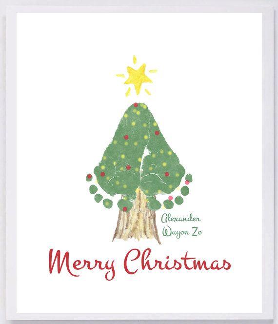 Footprint Art, grandma and grandpa christmas gift,
