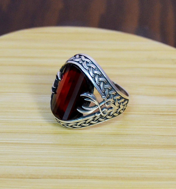 Turkish Jewelry Skull Legend Horn Biker 925K Sterling Silver Mens Ring