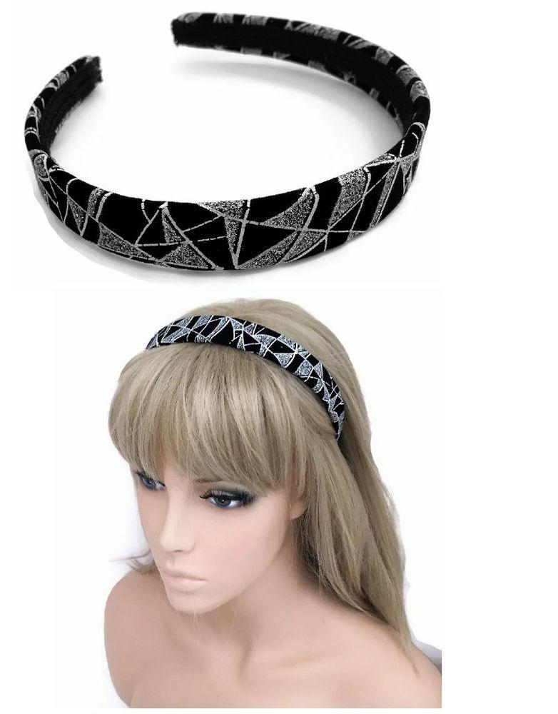 STUNNING Silver grey fabric bow /& diamante aliceband crystal  headband