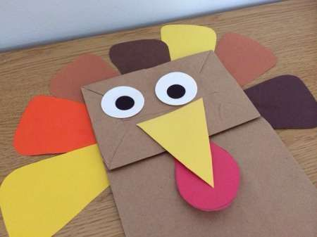 Kids craft paper bag turkey small lunch bags lunch bags and craft kids craft paper bag turkey sciox Choice Image