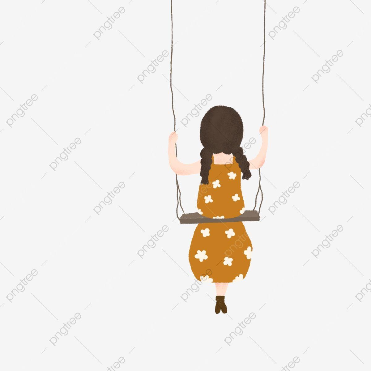 فتاة الكرتون شخصية للرسوم المتحركة صورة عن قرب فتاة جميلة شخصية للرسوم المتحركة رياضة رسم حر Png وملف Psd للتحميل مجانا Baby Mobile Swing Free