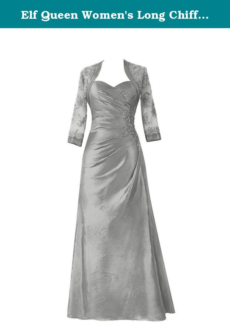 Elf Queen Women\'s Long Chiffon Bridesmaid Prom Dresses Evening Gowns ...