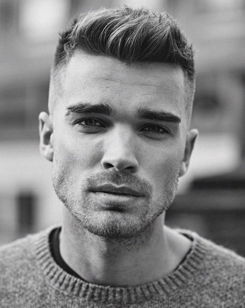 Men 039 S Hairstyle Straight Hair For Brunettes Mens Hairstyles Short Mens Hairstyles Straight Hairstyles