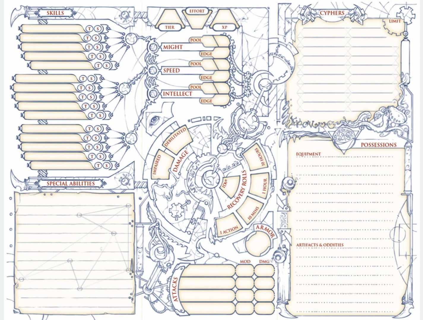 Numenera 2 | Character Sheets in 2019 | Character sheet, Rpg