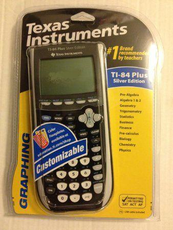 Amazon com: Texas Instruments TI-84 Plus Silver Edition