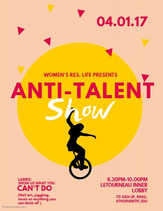 Copy of Talent Show Flyer Template PosterMyWall Free Poster - talent show flyer
