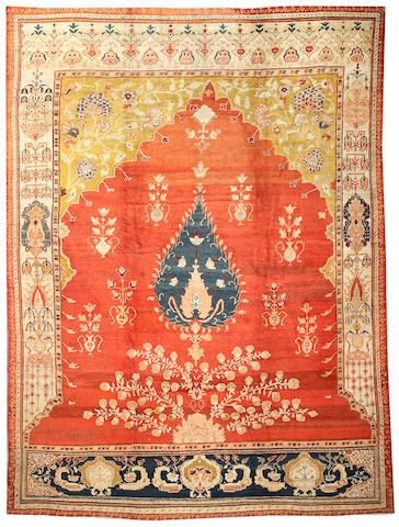 Sultanabad carpet  Central Persia,  late 19th century  size approximately 10ft. 5in. x 14ft.