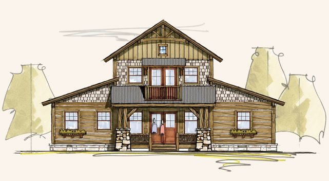 Summit timber frame home designs rustic house plans for Pole barn style home plans