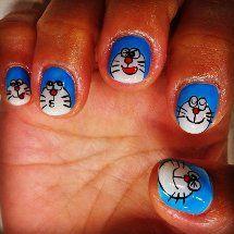 Doraemon Nails Nail Paint Pinterest