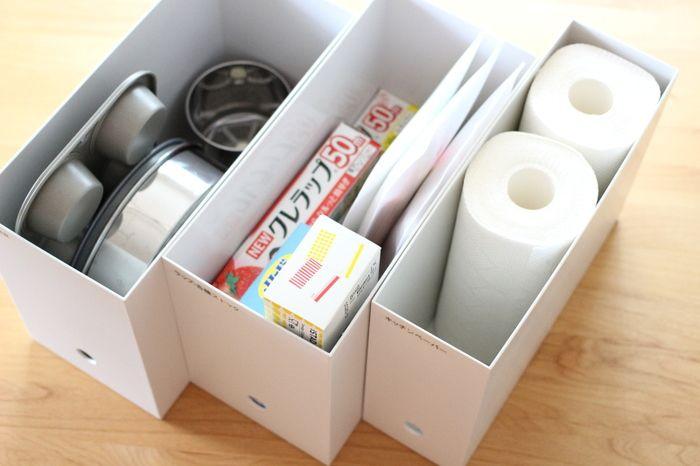 すっきり整頓 どんな収納にもお役立ち 無印良品 ファイルボックス 活用術 キナリノ 収納 アイデア 収納 収納 アイデア キッチン