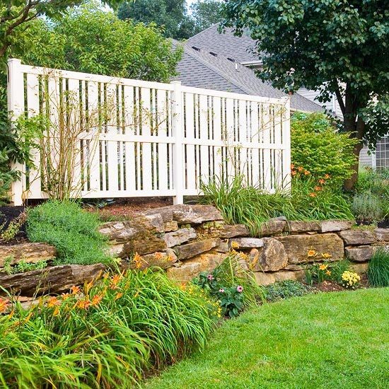 Keep It Simple There\u0027s no rule saying a fence has to run the length or perimeter of your yard. Put a panel or two just where you need it. & Easy Ways to Make Your Yard More Private | Landscapes and Gardens ...