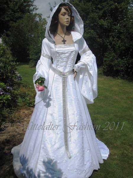Weies kleid lang mittelalterlich