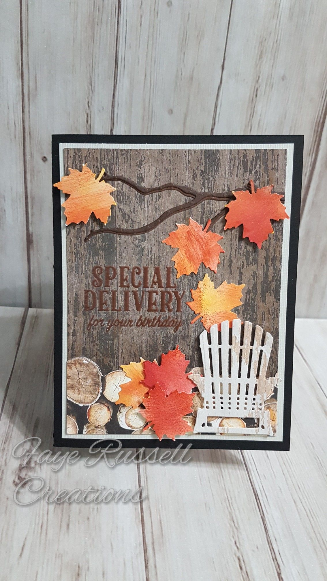 Stampin Up hand made card autumn birthday delivery color