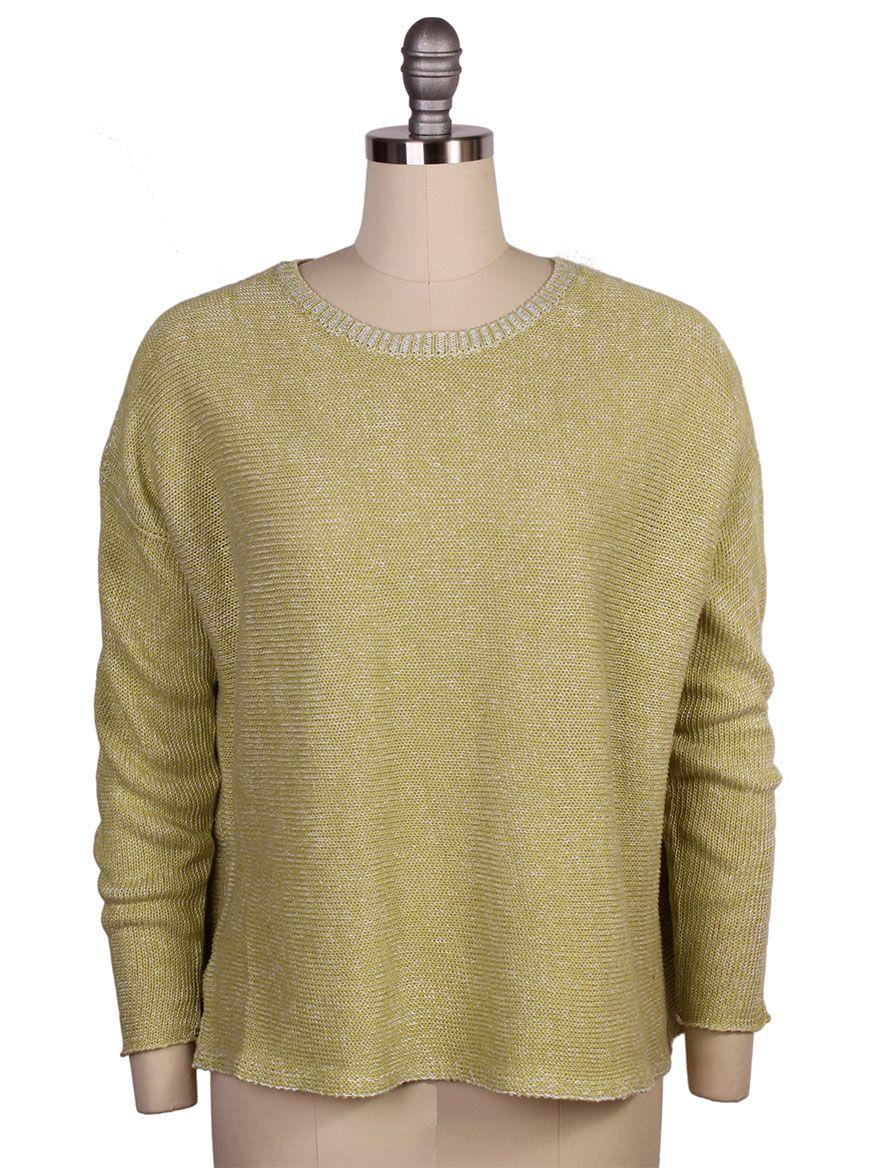 6c66bc84d4 Eileen Fisher Organic Linen Knit Box-Top