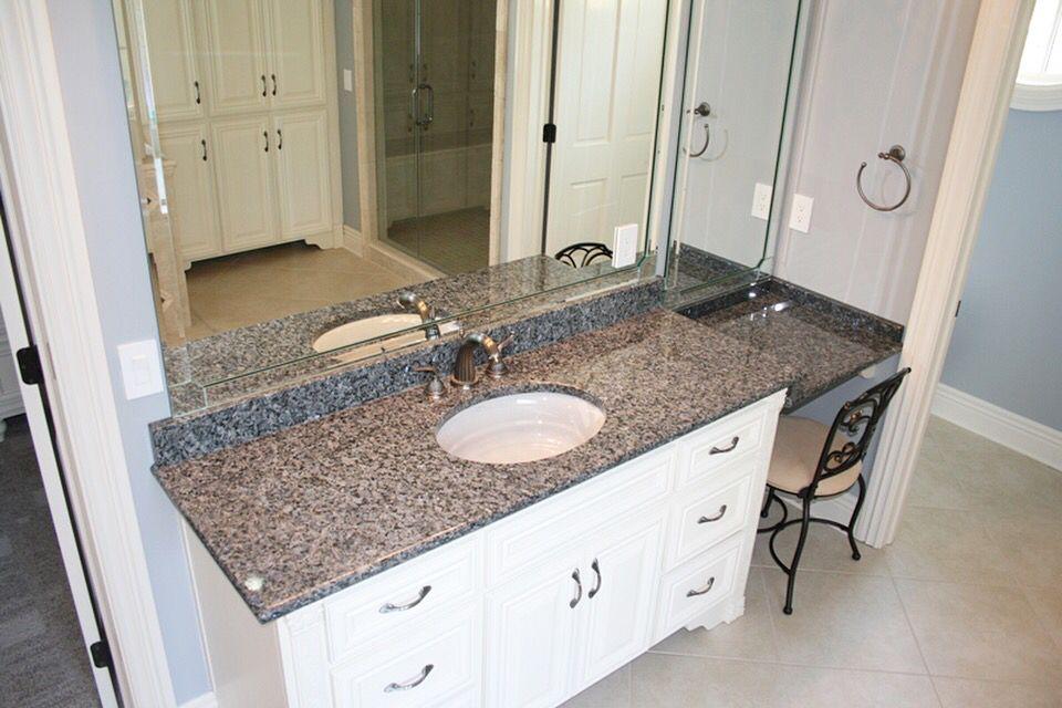 Beautiful Vanity New Caledonia Granite Venezia Marble Ridgefield