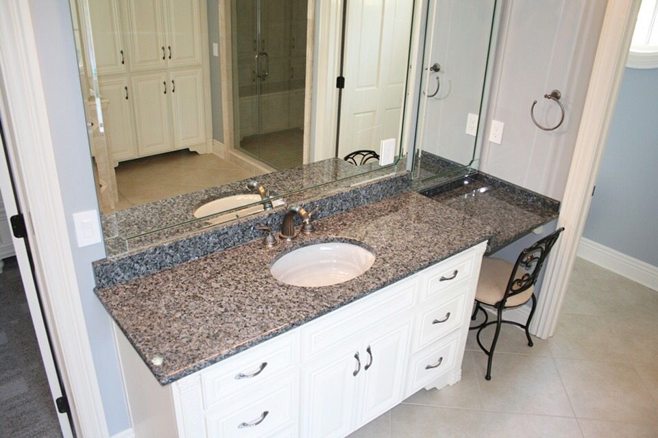 Beautiful Vanity New Caledonia Granite Venezia Marble Ridgefield Ct 203 544 7625 Cost Of Granite Countertops Granite Countertops Caledonia Granite