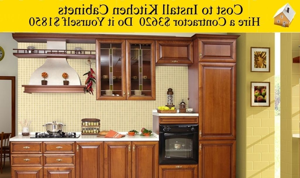 Best How Much Does It Cost To Install Kitchen Cabinets 400 x 300