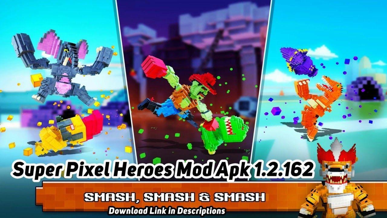 Super Pixel Heroes Mod Apk 1.2.162 (Unlimited Coins